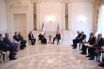 İran ve Azerbaycan cumhurbaşkanları bir araya geldi