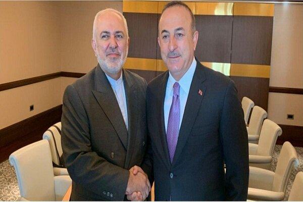 ایران اور ترکی کے وزراء خارجہ کی ملاقات