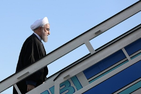 Rouhani leaves for Baku to attend NAM Summit