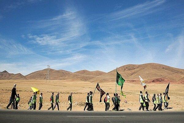 ارائه خدمت به پنج هزار زائر پیاده امام رضا(ع)در دو امامزاده قوچان