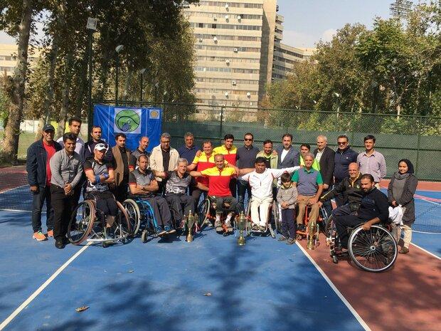 پایان مسابقات قهرمانی کشور تنیس با ویلچر