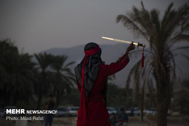 Buşehr eyaletinde Kerbela Olayı canlandırıldı