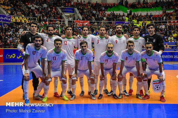 دیدار تیم های ملی فوتسال ایران و قرقیزستان