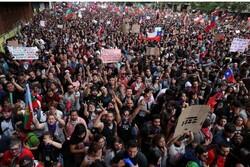 چلی میں عدم مساوات کے خلاف عوامی مظاہرہ