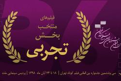 معرفی آثار بخش تجربی مسابقه ملی جشنواره فیلم کوتاه تهران