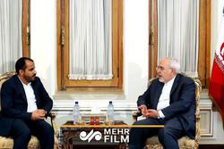 FM Zarif's meeting with spokesman of Yemen's Ansarullah