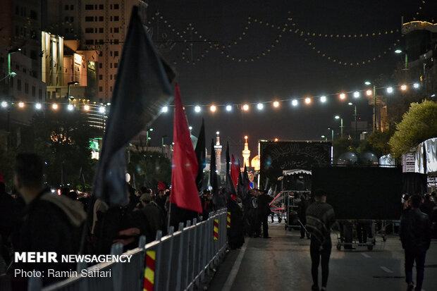 مراسم عزاداری شب رحلت حضرت رسول اکرم (ص) در مشهد