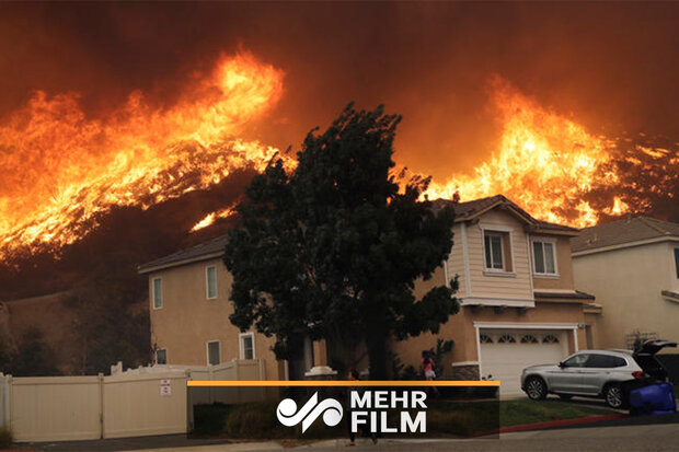 VIDEO: Doorbell camera captures family's escape from California wildfire