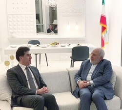 FM Zarif meets with Nechirvan Barzani on sidelines of Doha meeting