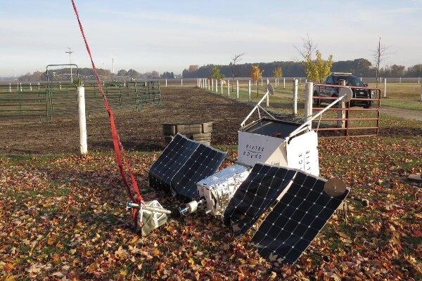 پروژه «سلفی فضایی» سامسونگ در یک مزرعه سقوط کرد