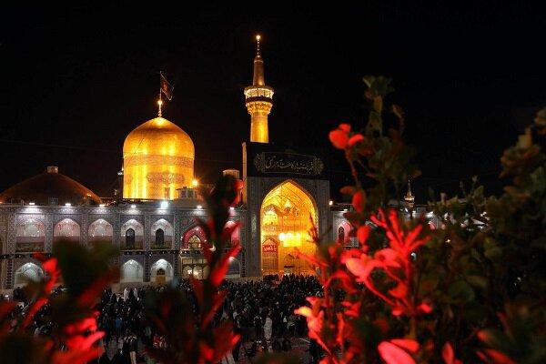 آغاز مراسم شب شهادت امام رضا(ع) در حرم مطهر رضوی