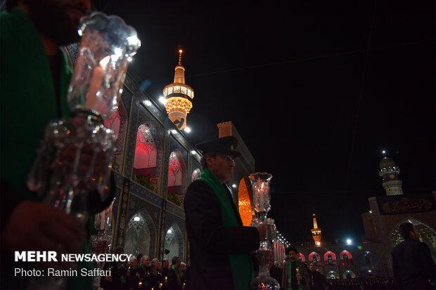 مراسم خطبه خوانی شب شهادت امام رضا علیه السلام