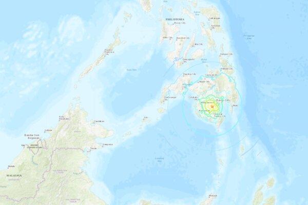 زلزله ای با قدرت ۶.۶ ریشتر جنوب شرقی فیلیپین را لرزاند