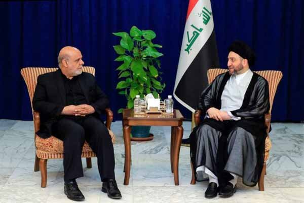 Iranian envoy to Baghdad, Hakim discuss regional issues