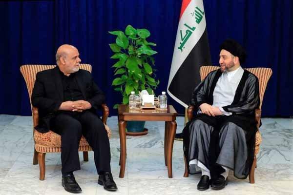 بغداد میں ایرانی سفیر کی عمار حکیم سے ملاقات