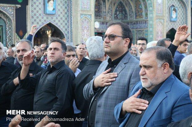 تجمع عزاداران رضوی در حرم مطهر سلطان سید جلال الدین اشرف (ع)