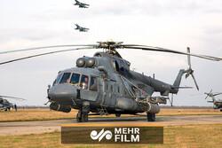 فیلمی از مانور بالگردهای جنگنده روسی