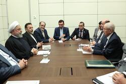 Iranian President Hassan Rouhani - Algeria's Head of State Abdelkader Bensalah