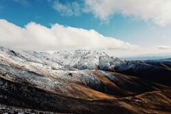 برف پاییزی روستاهای مازندران را سفید کرد