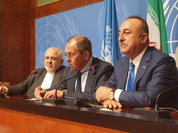 Iran, Russia, Turkey stress Syria's territorial integrity