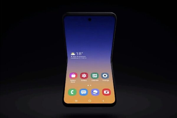 رونمایی از طرح اولیه موبایل تاشو صدفی شکل سامسونگ
