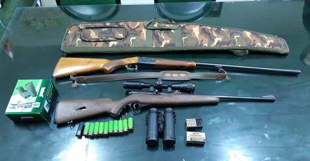 کشف سلاح های شکاری غیرمجاز در بروجن
