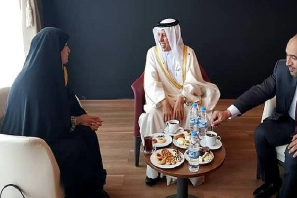 Iranian parliamentary delegation meets with Qatari speaker in Turkey