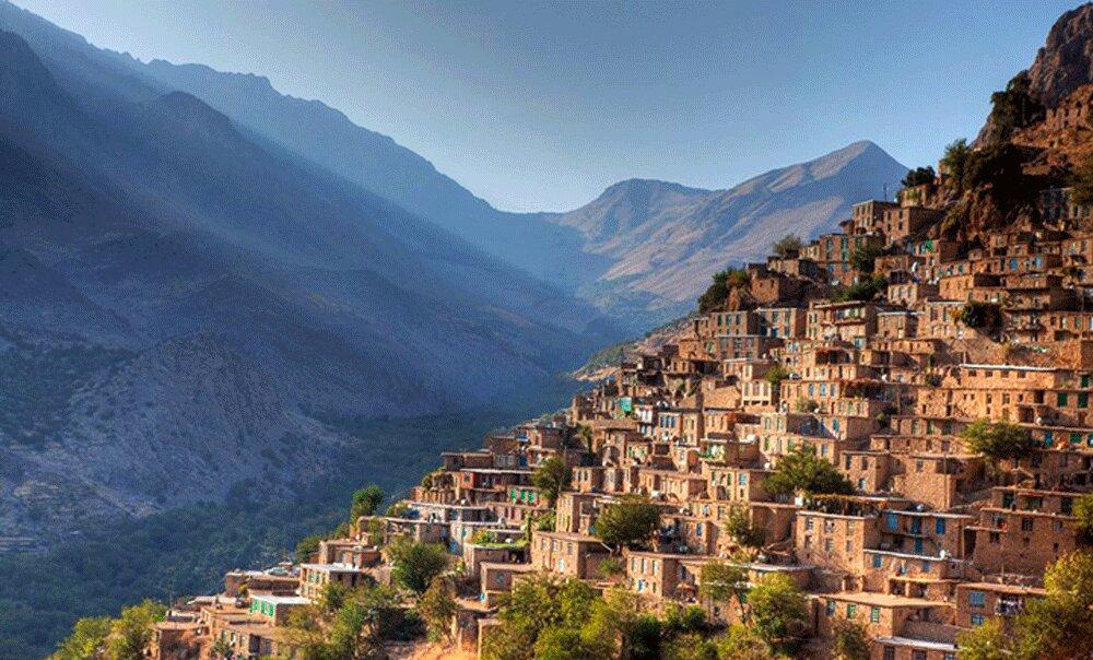 Uraman landscape in western Iran, Kermanshah province
