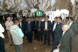 وزیر جهاد کشاورزی از غار۱۳۵ میلیون ساله ده شیخ پاتاوه بازدید کرد