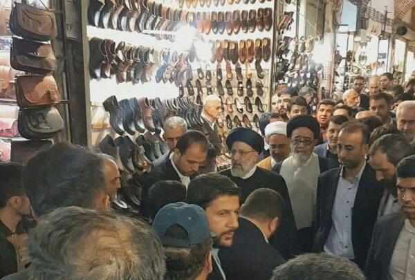 حضور سرزده رئیس قوه قضائیه در بازار تبریز و گفتگو با اصناف