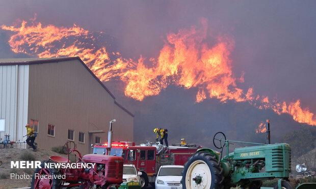 ادامه آتش سوزی در کالیفرنیا