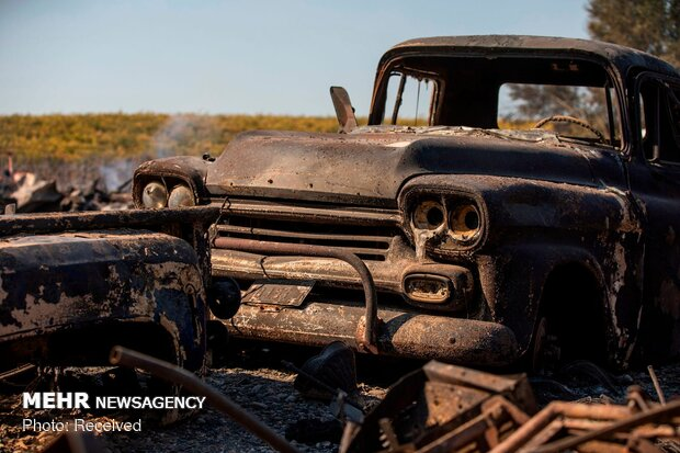 بازگشت به خانه پس از آتش سوزی در آمریکا