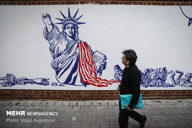New murals on US Den of Espionage's walls