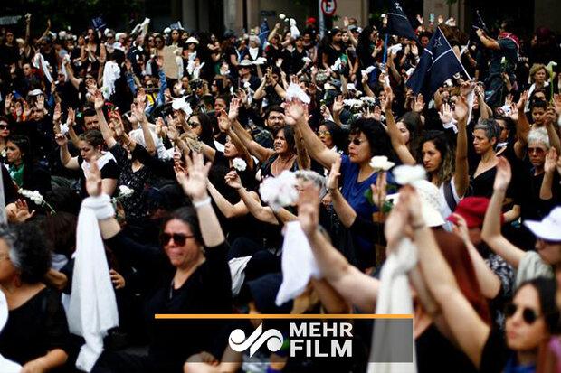 چلی میں ہزاروں افراد کا مظاہرہ