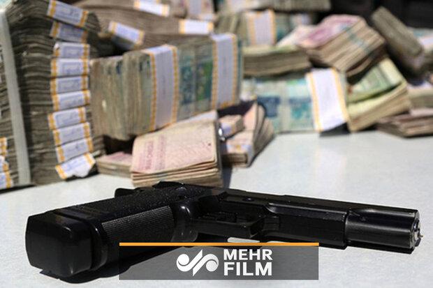 فیلمی از سرقت مسلحانه از یک بانک در زاهدان