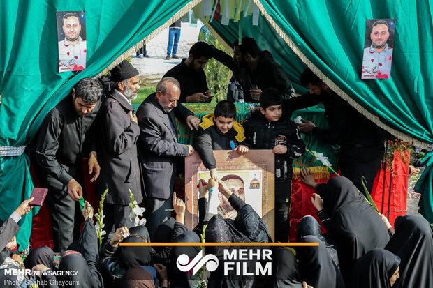 اشکهای حسرت و فریادهای تحسین در فراق شهید مدافعحرم حامد سلطانی