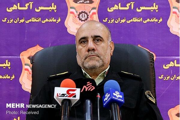 رئیس پلیس پایتخت از دستگیری اخلالگران خبر داد