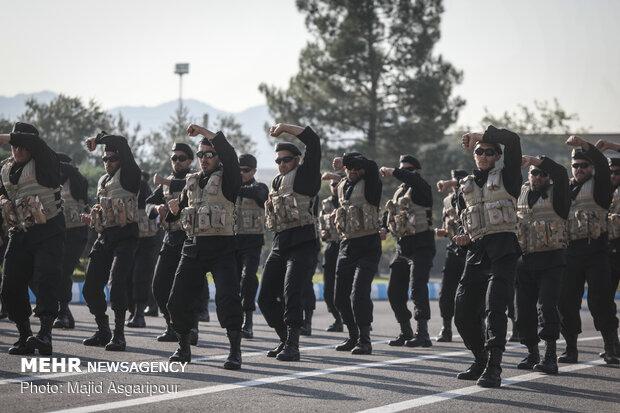مراسم اختتامیه دوره های آموزش یگان های نیرو مخصوص ارتش