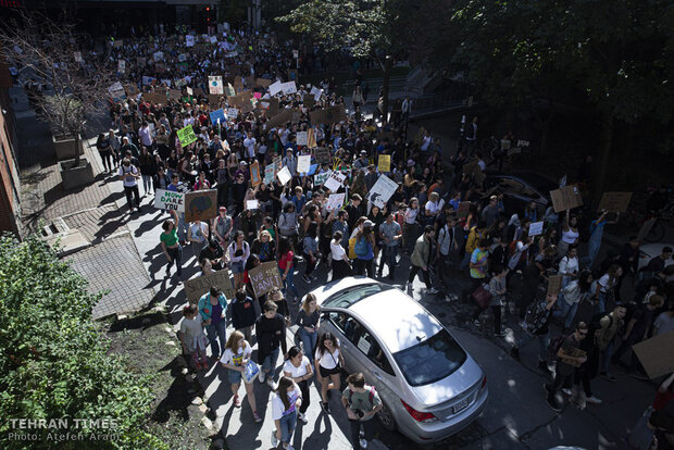 Climate march; largest protest in Montreal's history