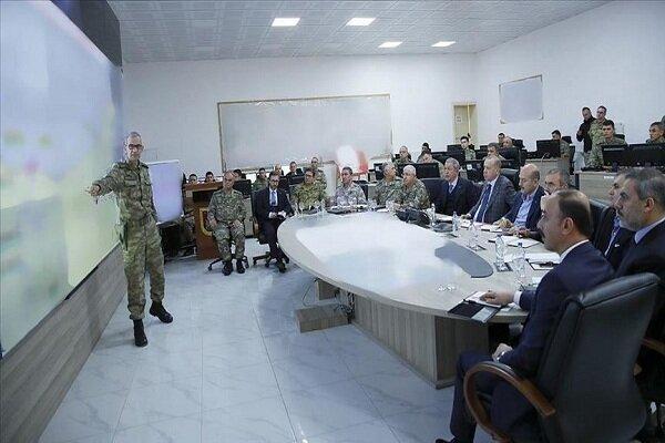 بازدید اردوغان از مرکز فرماندهی عملیات موسوم به چشمهصلح