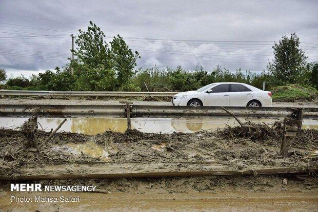 سیل به ۲۰ نقطه از راههای شرق مازندران آسیب زد