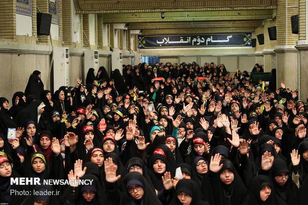 دیدار دانشآموزان و دانشجویان با رهبر انقلاب