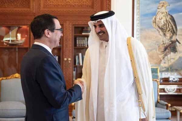 راز دیدار وزیر خزانه داری آمریکا با امیر قطر