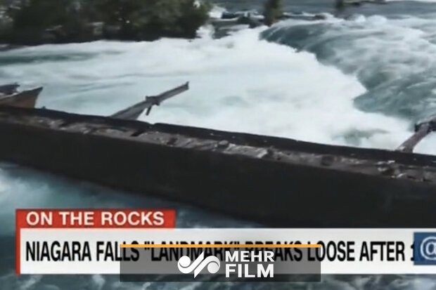 VIDEO: Storm frees Iron boat stuck at Niagara Falls for more than 100 years
