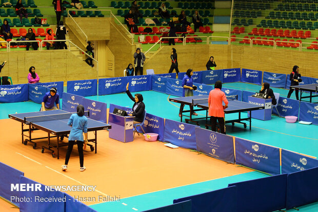 Girls table tennis competitions in Ardabil