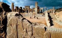 A view of the UNESCO-tagged Persepolis, situated some 60 km northward of Shiraz, southern Iran