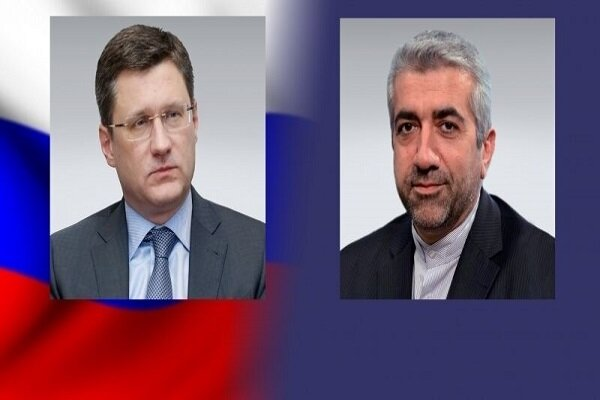 Iranian, Russian energy ministers hold phone talks on economic coop.