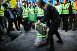 Iranian students' rally in support of Yellow Vest protesters