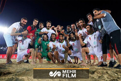 Iran vs Spain highlights in Dubai Beach Soccer Cup final