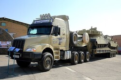 Armed Forces unveils homegrown 'Kian-700' tank transporter